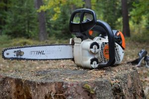 chainsaw for tree trimming